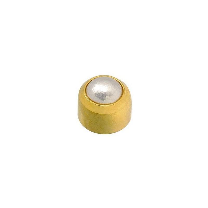 "Caflon®  sterile gold plated earrings ""Pearl"""