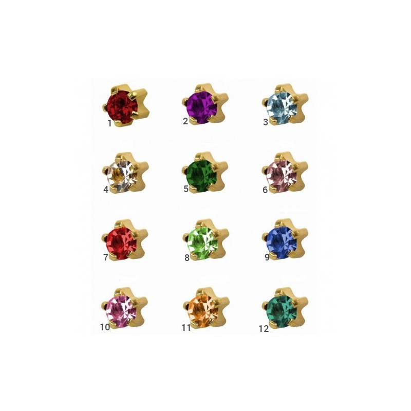 Caflon® sterile colorful earring (Clawset)