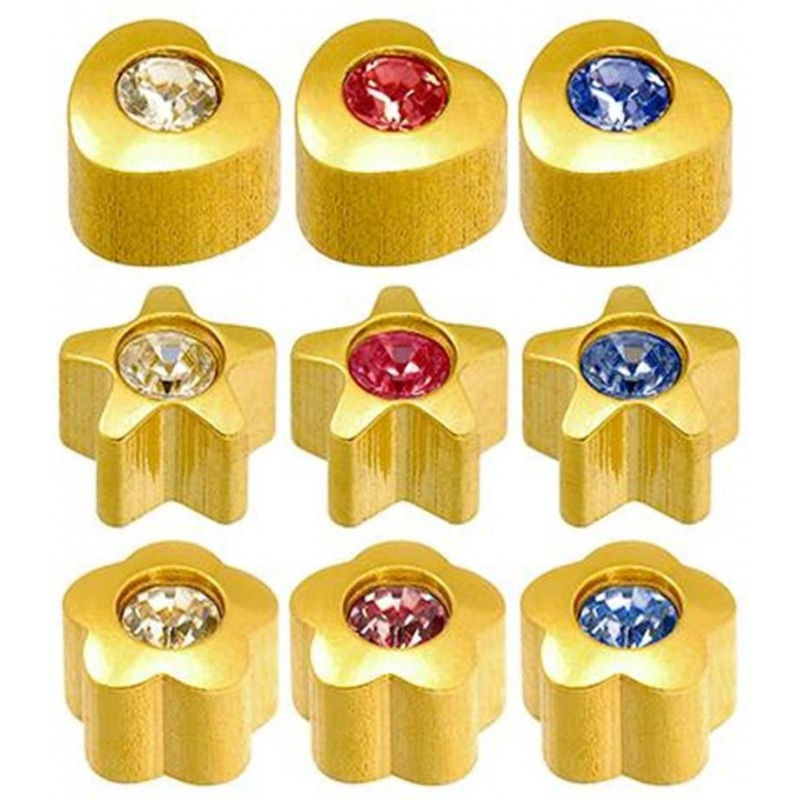 Caflon® sterile colorful gold plated earrings