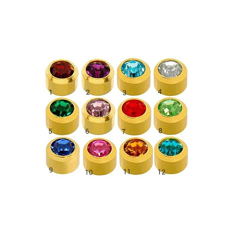 Caflon® MINI sterile colorful earrings (Gold Plated)
