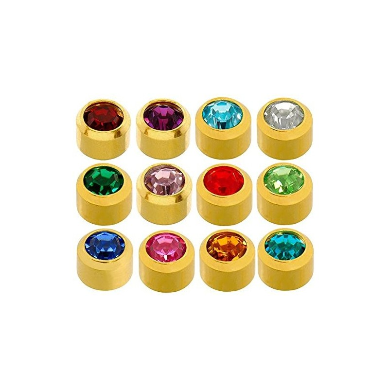 Caflon® sterile gold plated colourful earrings kit (12 pairs)