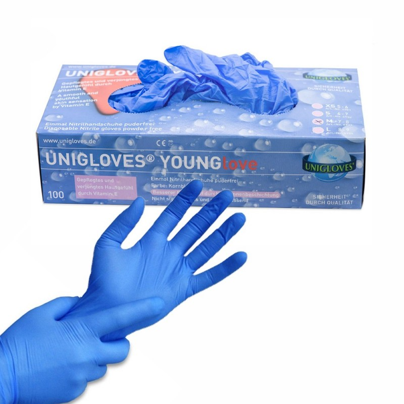YOUNGLOVE Nitrile Gloves  (XS - S - M - L)