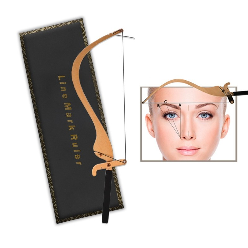 Microblading Line Mark Ruler (gold / silver)