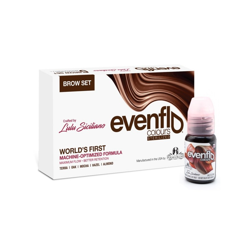 Perma Blend Evenflo brow pigments set (15 ml)