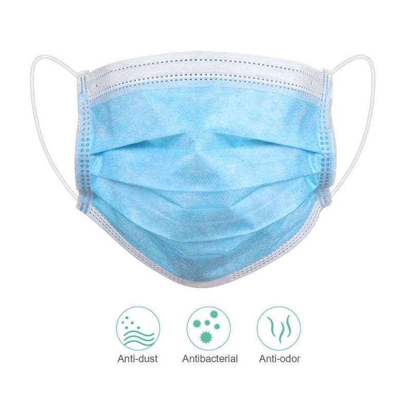 Disposable Face Masks - 3 layers blue (20pcs.)