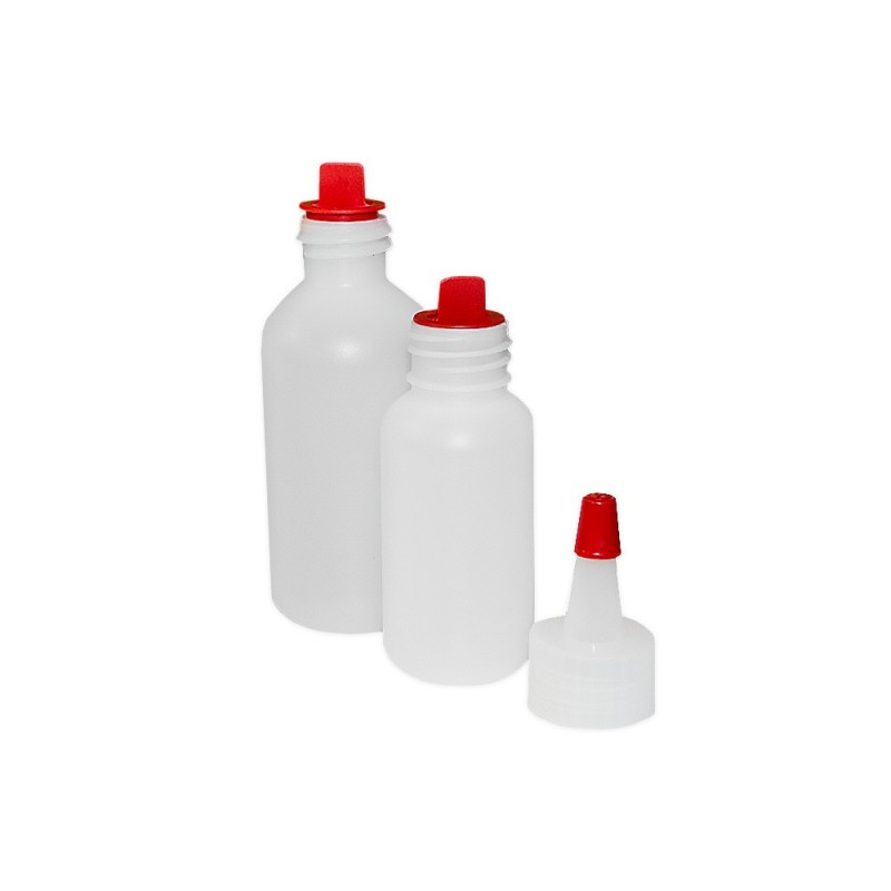 Plastic bottle - with two caps (30 - 60ml.) 1 pcs.