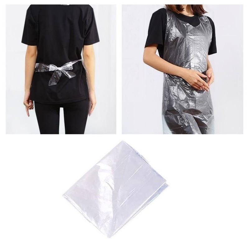 Одноразовые полиэтиленовые пластиковые фартуки 25 шт.