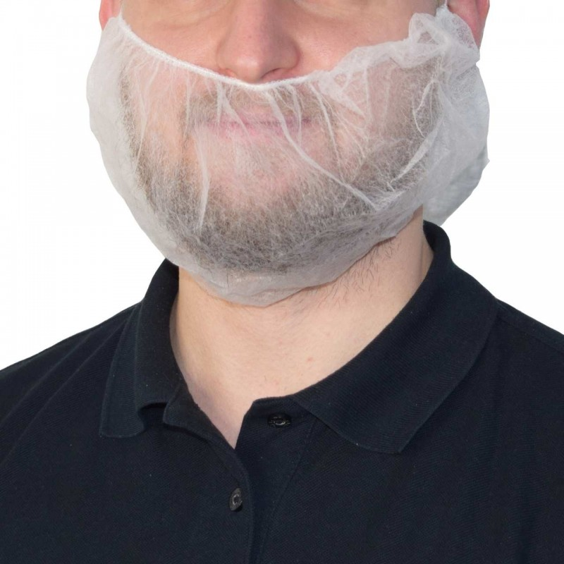 UNIGLOVES White Beard Mask 100pcs.