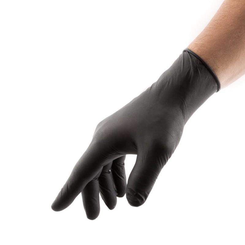 SELECT BLACK латексные перчатки 25 пар (M)