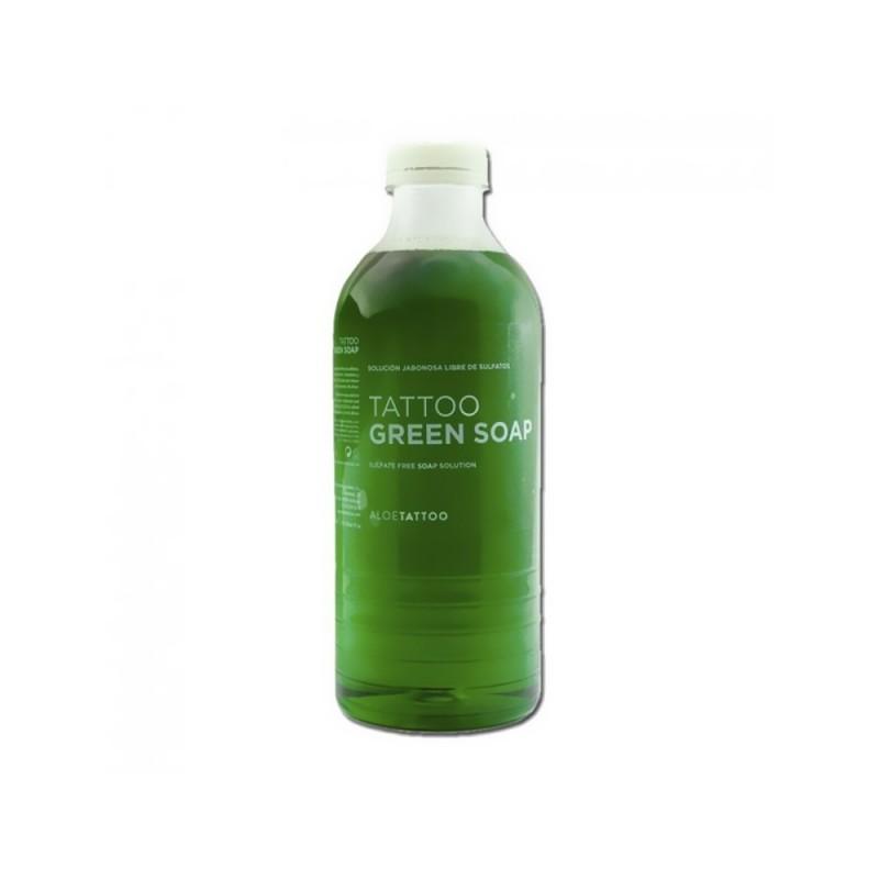 Зеленое мыло для тату с аллантоином ALOETATTOO (1000 мл.)