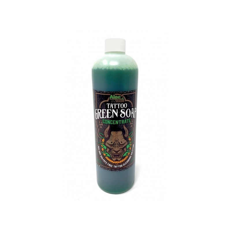 Tattoo Green Soap Concentrate ALLOETATTOO (500ml.)