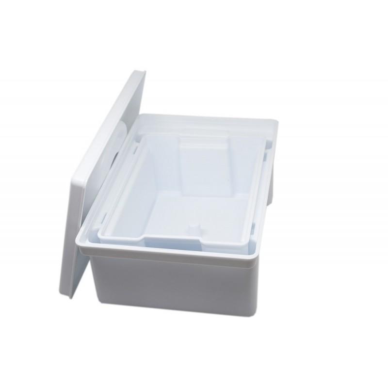 Белая ванна для дезинфекции с сетчатым фильтром 1 л