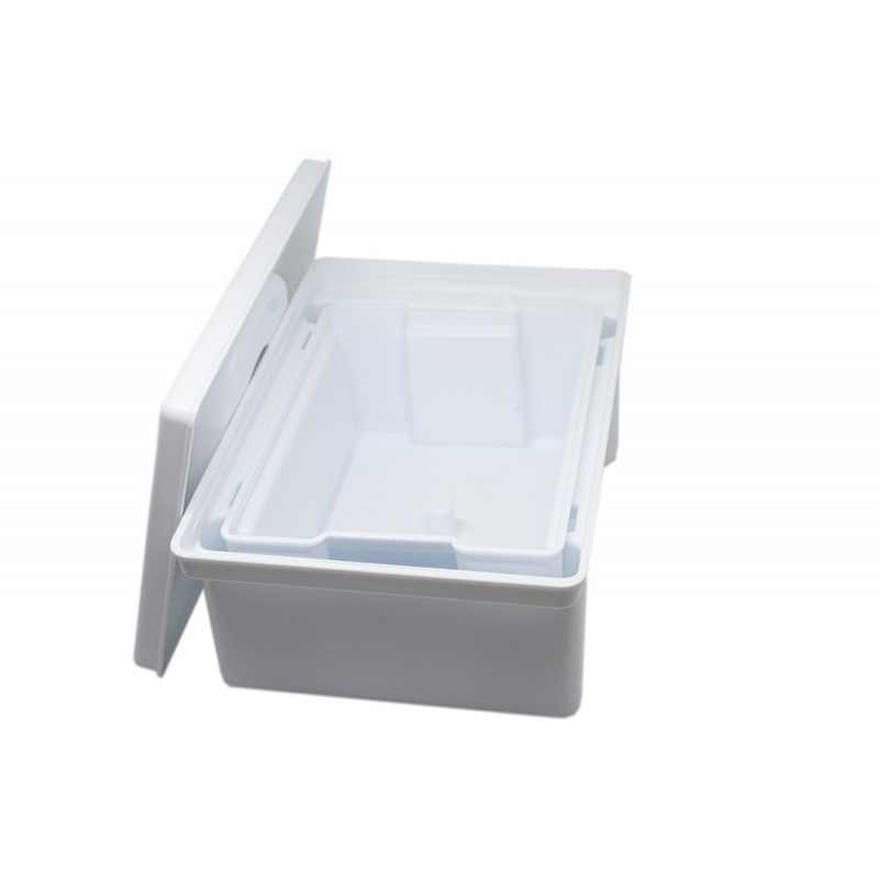 White Disinfection Tub with Strainer 1L