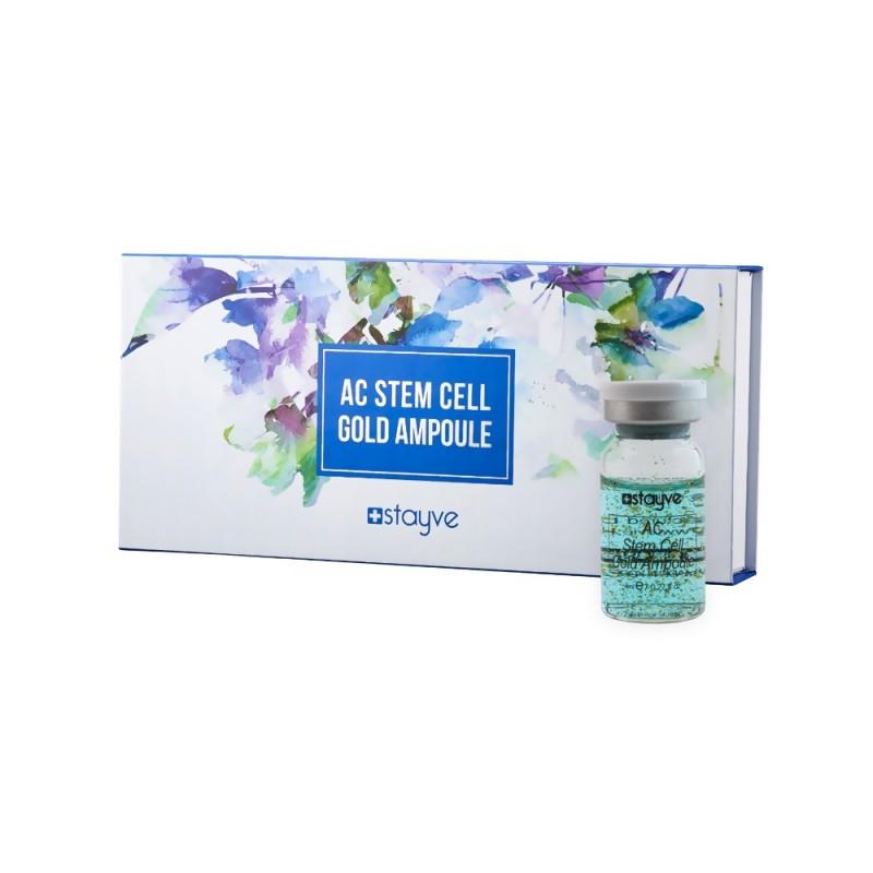 Ампулы STAYVE AC Stem Cell Gold от прыщей или раздражения кожи (8 мл. X 10 шт.)