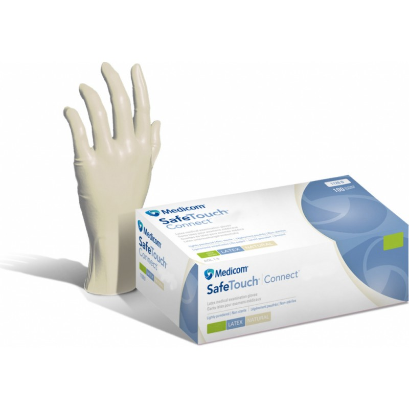 MEDICOM Safe Touch Connect Vitals Latex Gloves (S/M/L)