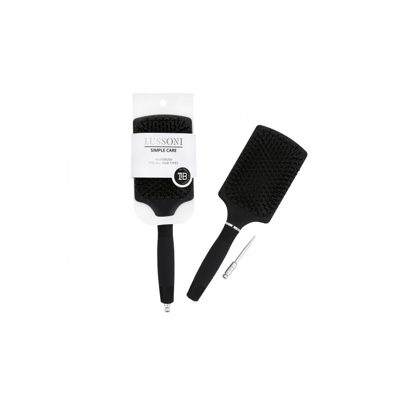 LUSSONI Paddle Hair Brush For All Hair Types With Pin