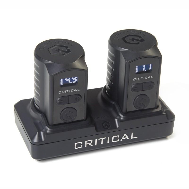 Critical Universāls akumulatoru komplekts ar uzlādes staciju (RCA)