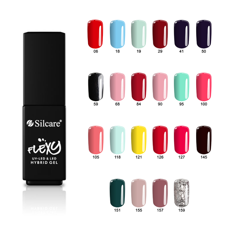 Silcare Flexy Hybrid Gel For Nails 2021 Colors (4.5g)