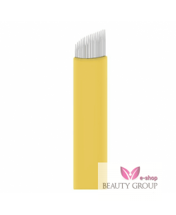 Microblading 16-prong needle (Extra Super Sharp-Yellow) 0.20mm