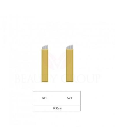 Microblading 12 - 14 CF needle- 0,30mm (1 pcs.)