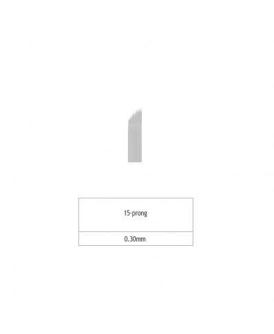 Microblading 15 prong needle (platinum)
