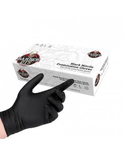 Black nitrile examination gloves 100pcs. (M -L)