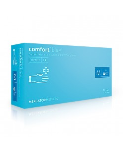 Comfort Blue latex protective gloves (L)