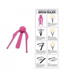 Eyebrow ruler / divider 1pcs.
