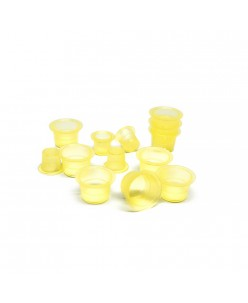 Clear yellow ink caps (S-M) 100pcs.