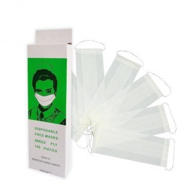 Disposable Face Masks, 1 layer  - White (100 pcs)