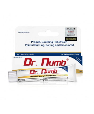 Dr. Numb 5% Lidocaine anesthetic cream (10g.)