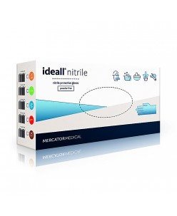 IDEALL NITRILE disposable nitrile protective gloves (M)