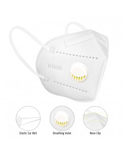 Face mask - respirator with valve 4 layers KN95 1pcs.