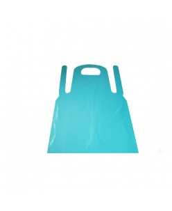 Disposable PE blue aprons, 33 micron (100pcs.)