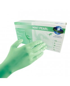 PEARL Nitrile Gloves (S - M) (MINT PEARL)