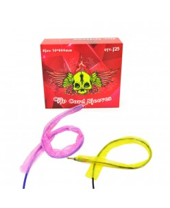 Tattoo clip cord sleeves - Pink / Yellow (50 x 800 mm) 125 pcs.