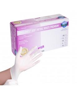 SOFT NITRIL WHITE PREMIUM gloves (S - M - L)