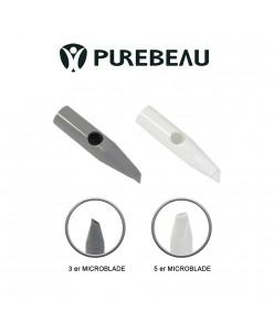 Purebeau 3er - 5er flat needle cap microblade (1pcs.)