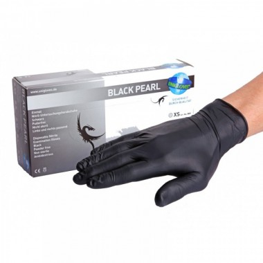 Black Pearl Nitrile Gloves (XS - S - M- L)