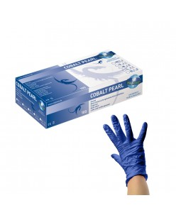 PEARL Nitrile Gloves (S - M) (BLUE PEARL)