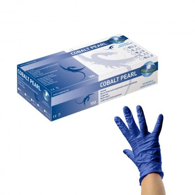 PEARL Nitrile Gloves (XS - S - M) (COBALT PEARL)