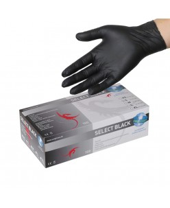 SELECT BLACK Latex Gloves (XS - S-M-L)