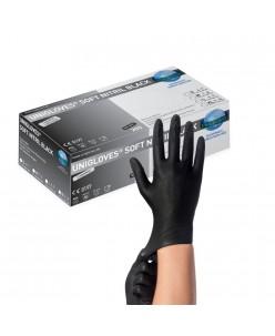 SOFT NITRIL BLACK Nitrile Gloves (S-M-L)