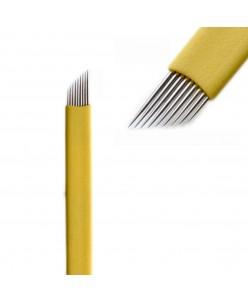 Microblading 12-prong needle (Extra Super Sharp-Yellow)