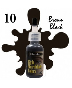 Rich Microblade Colors Pigment Brown Black (15ml.)