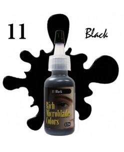 Rich Microblade Colors Pigment Black (15ml.)