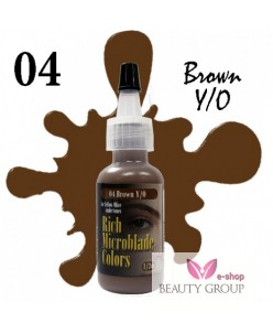 Rich Microblade Colors Pigment Brown Y/O (15ml.)