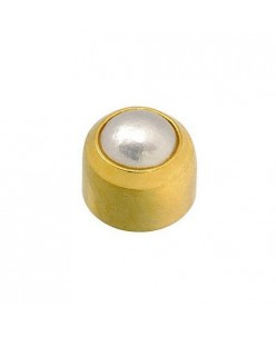 "Caflon®  sterile gold plated earrings ""Pearl"""