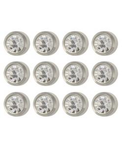 Caflon® titanium earrings (April Birthstone)