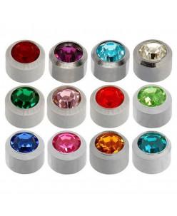Caflon® sterile silver colourful earrings kit (12 pairs)